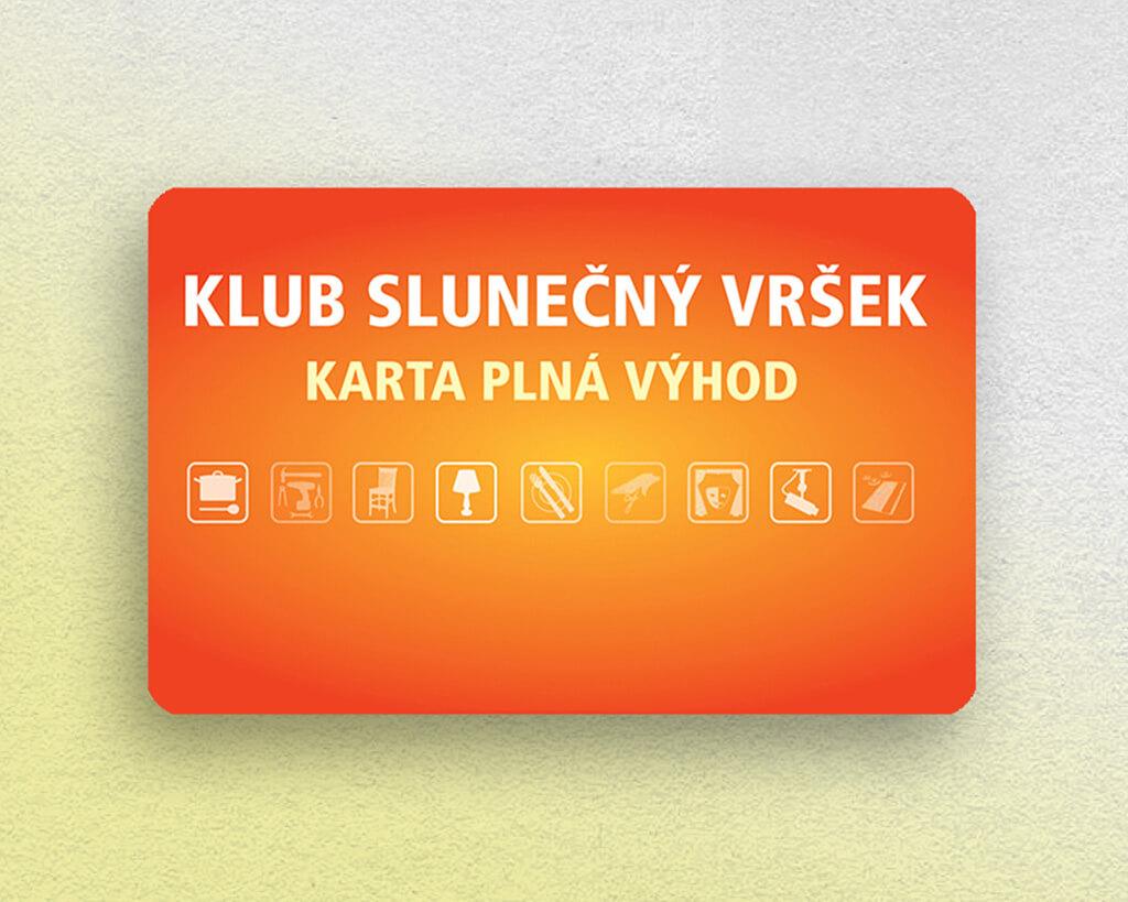 klubové plastové karty
